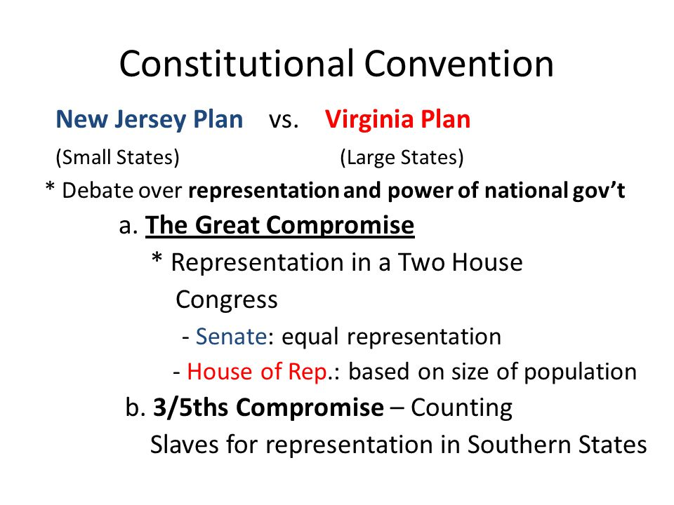 Principles of the Constitution 1.Popular Sovereignty – people hold the power 2.Limited Government - constitution 3.Separation of Powers – 3 branches 4.Checks and Balances – shared powers 5.Federalism – State & Federal gov't 6.Judicial Review – Court's powers