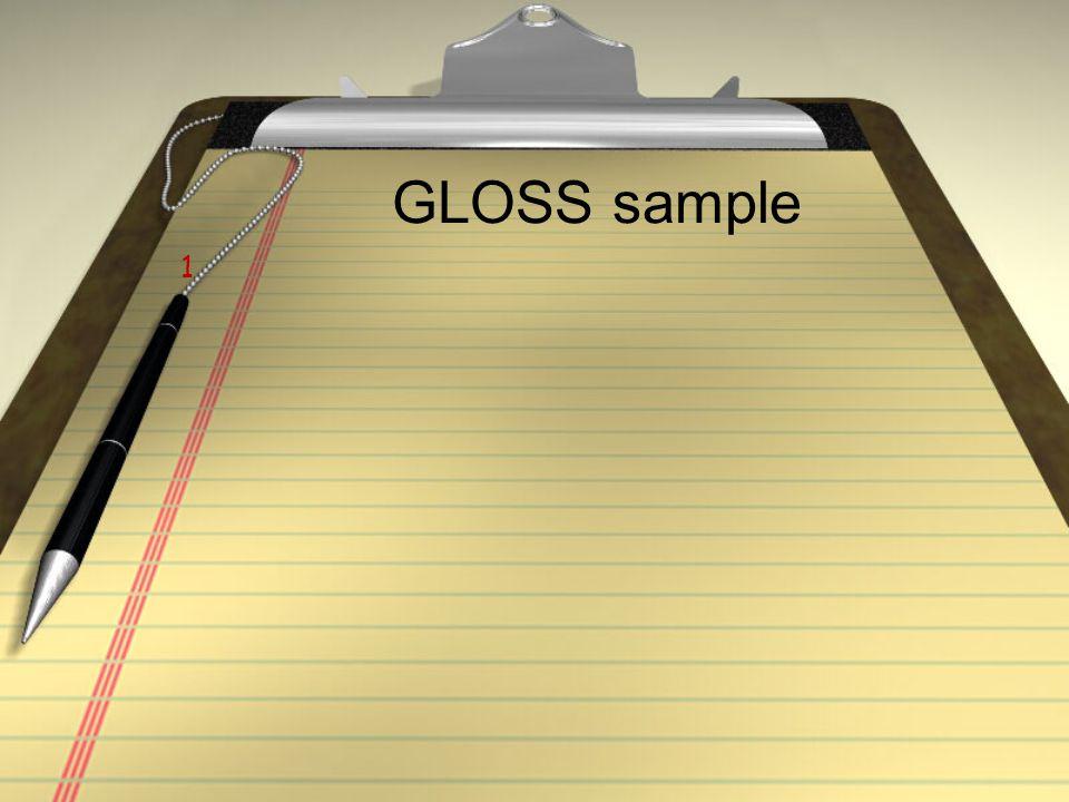 GLOSS sample 1