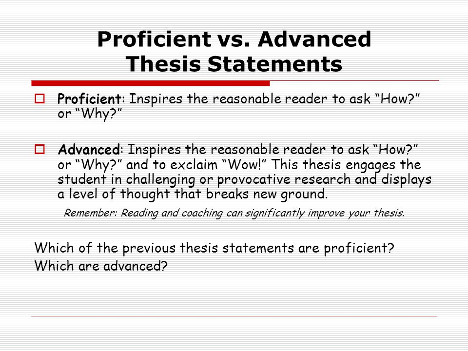 Proficient vs.
