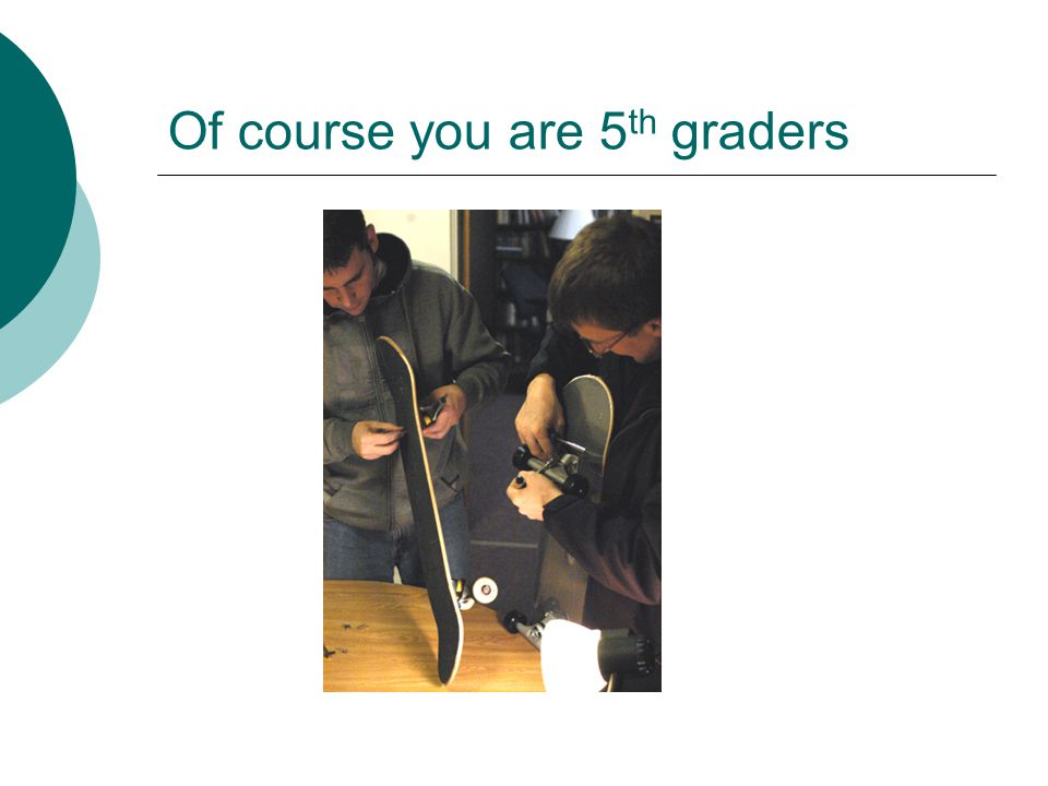 Of course you are 5 th graders