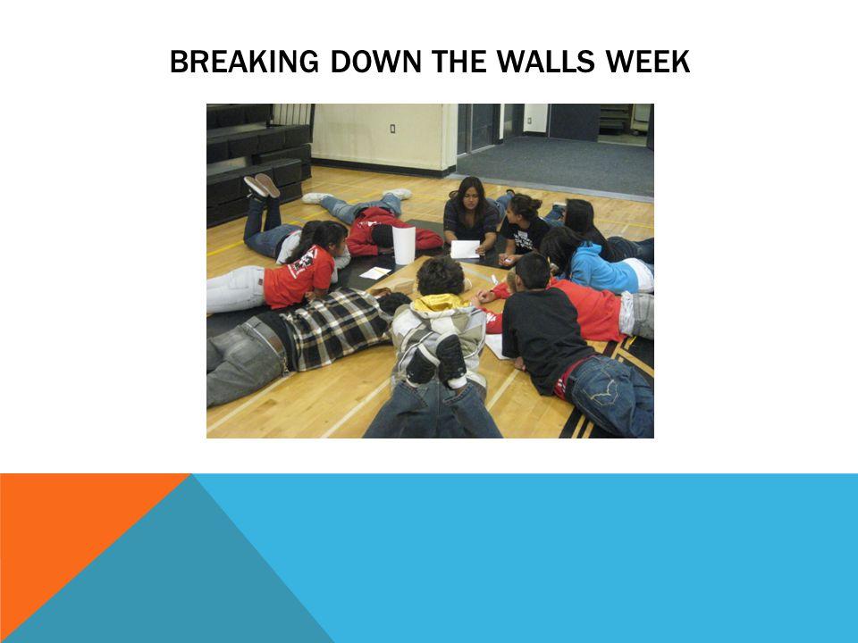 BREAKING DOWN THE WALLS WEEK