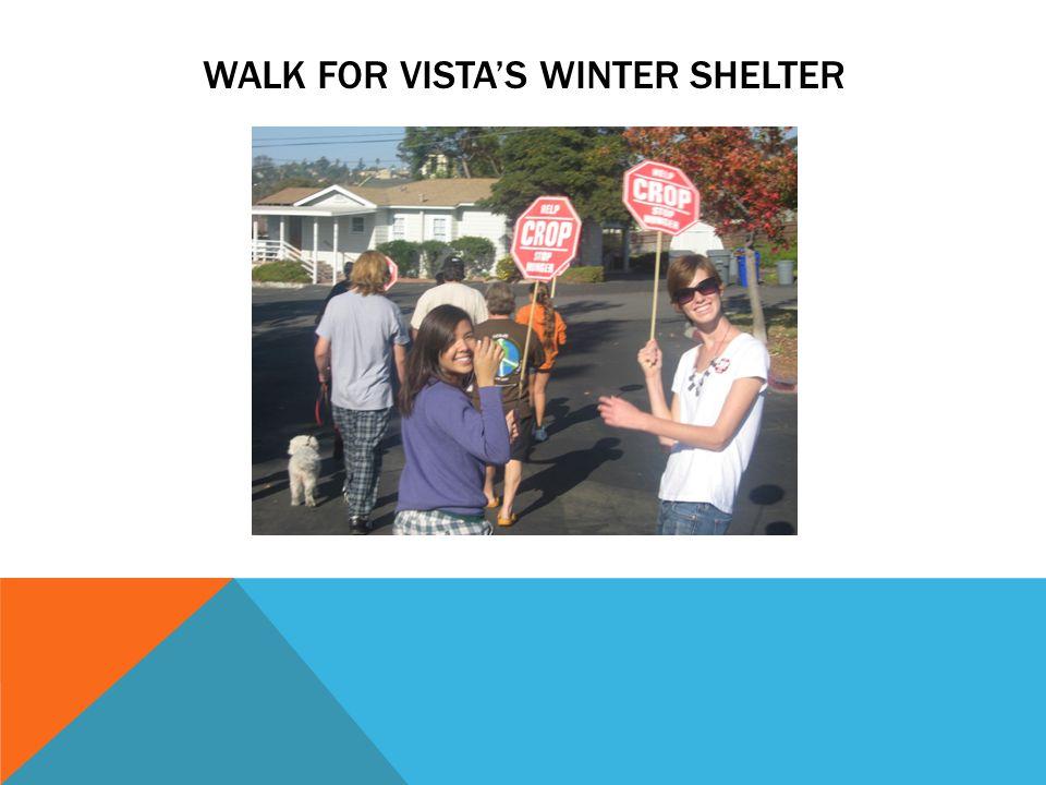 WALK FOR VISTA'S WINTER SHELTER