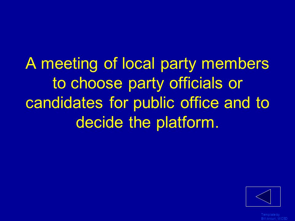 Template by Bill Arcuri, WCSD Government where one party holds the presidency and the other controls one or both houses.