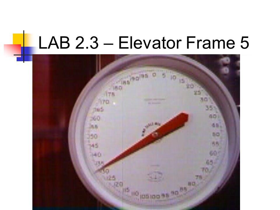 LAB 2.3 – Elevator Frame 5