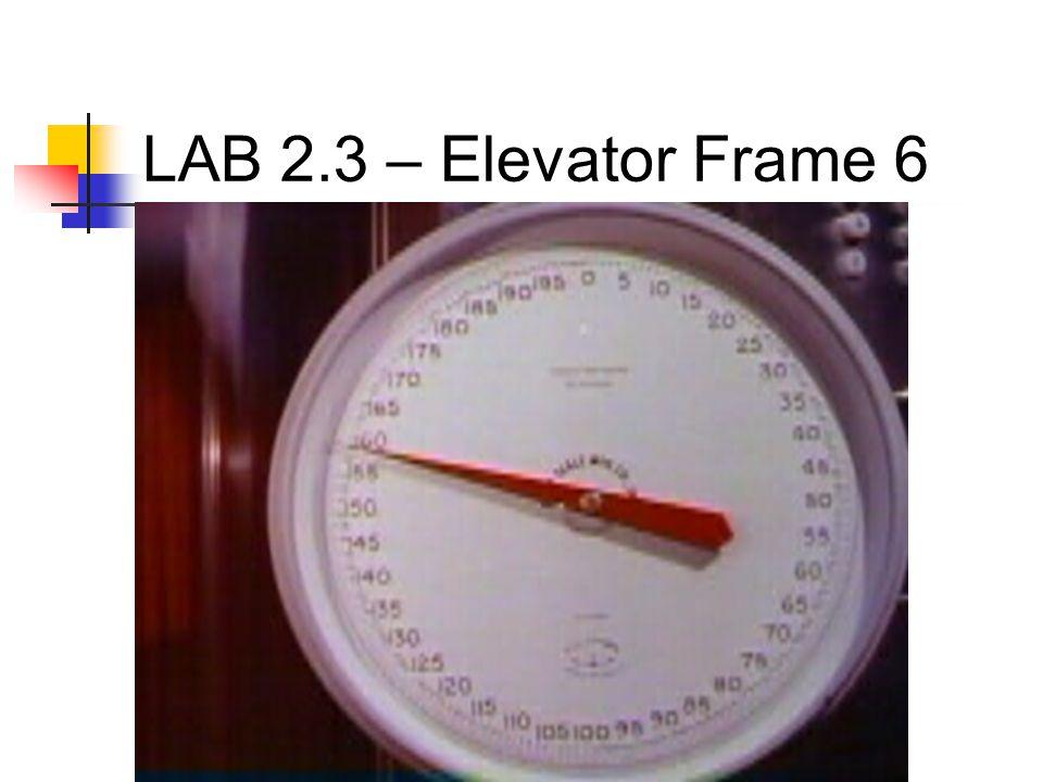 LAB 2.3 – Elevator Frame 6