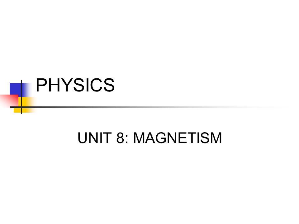 PHYSICS UNIT 8: MAGNETISM