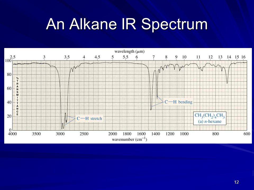 12 An Alkane IR Spectrum
