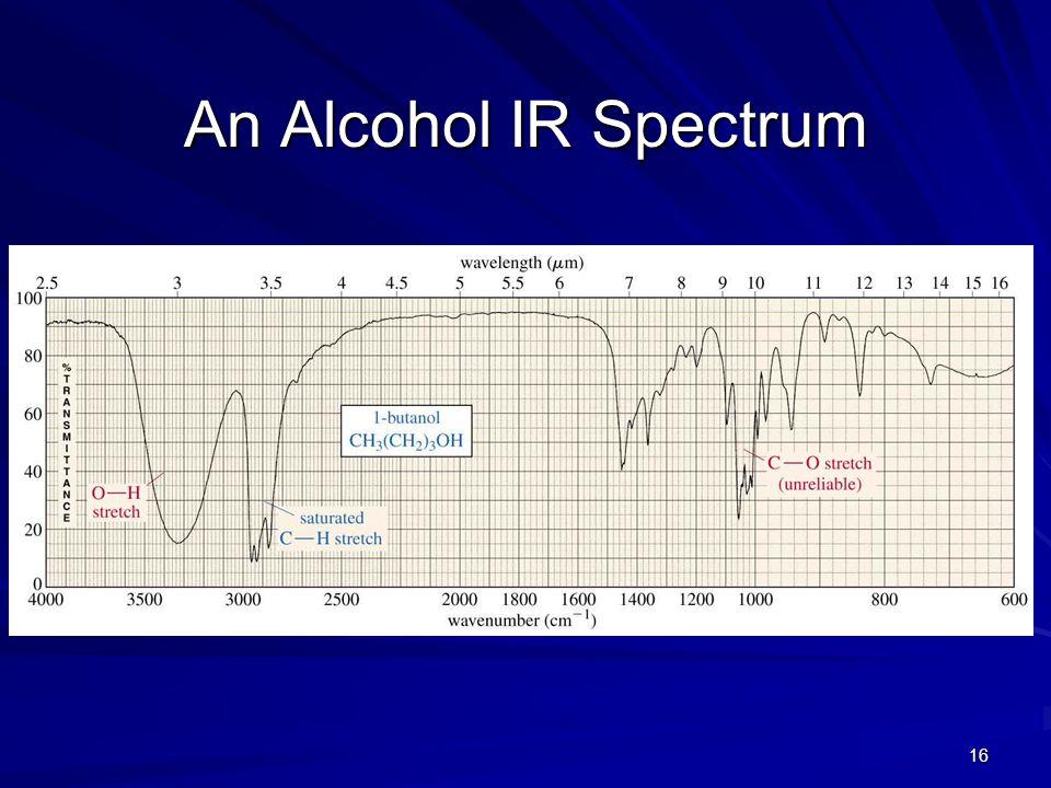16 An Alcohol IR Spectrum