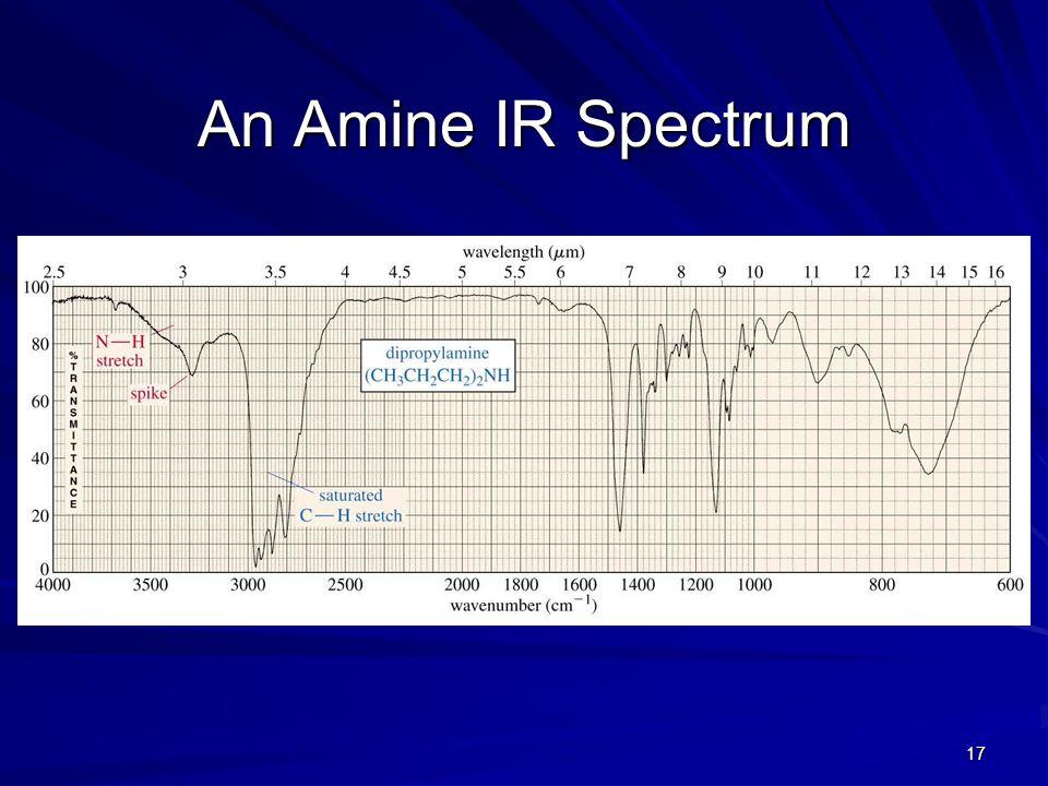 17 An Amine IR Spectrum