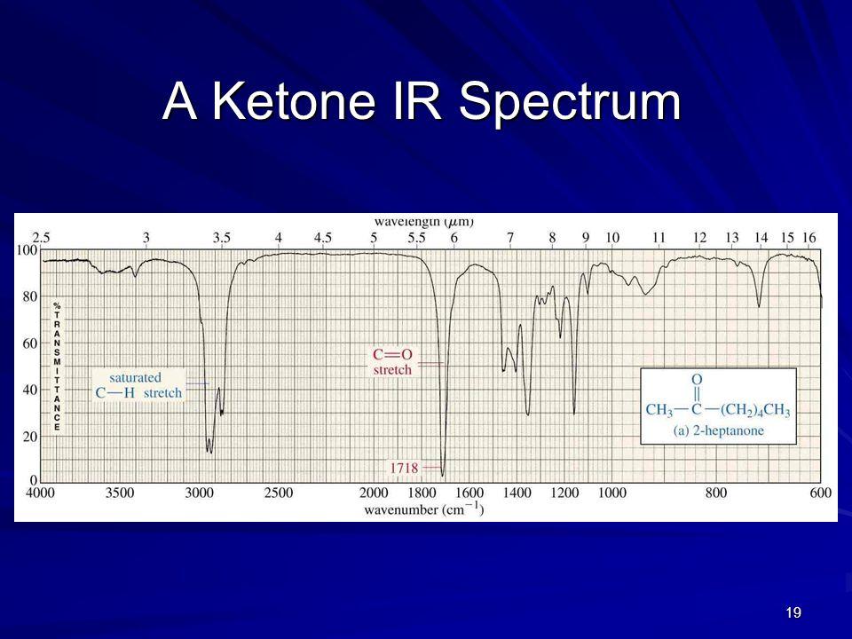 19 A Ketone IR Spectrum