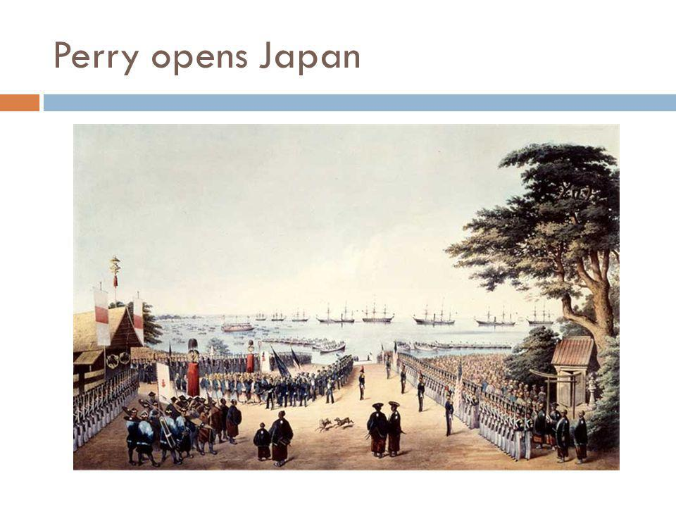 Perry opens Japan