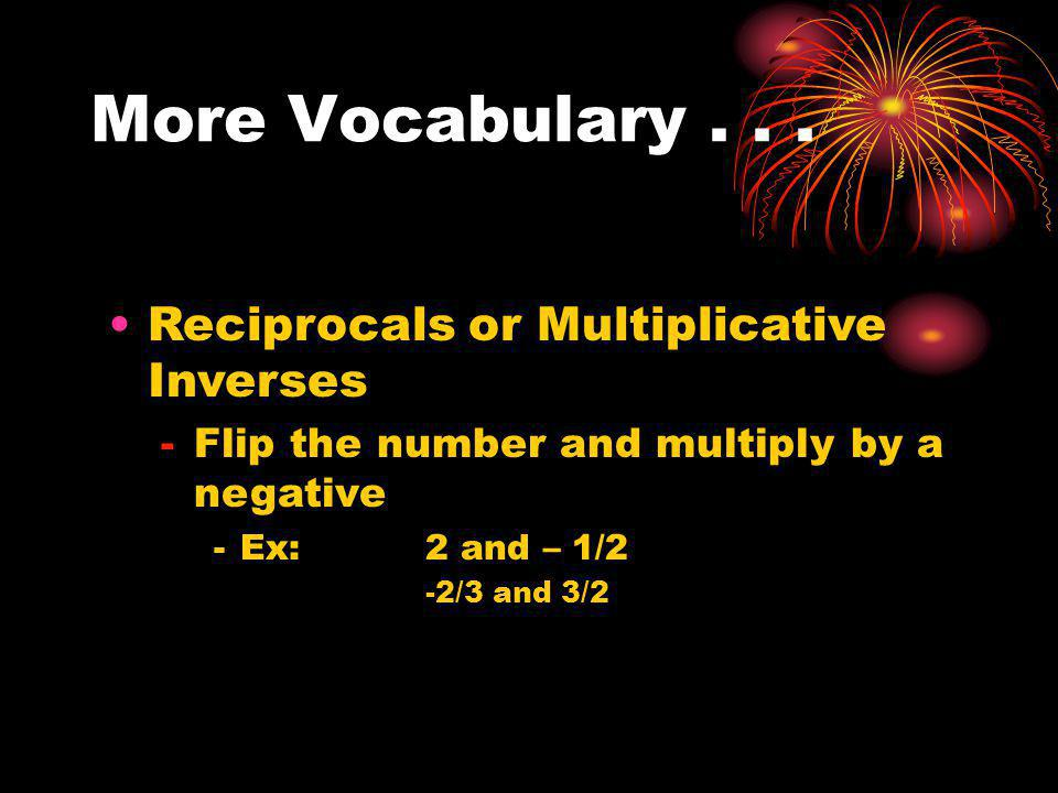 More Vocabulary...