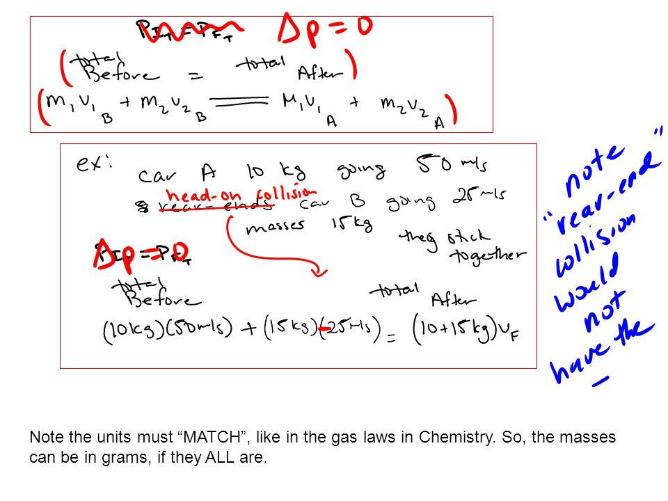 (m 1 v 1I + m 2 v 2 I + …. = m 1 v 1F + m 2 v 2 F + …) Some examples from non-AP: