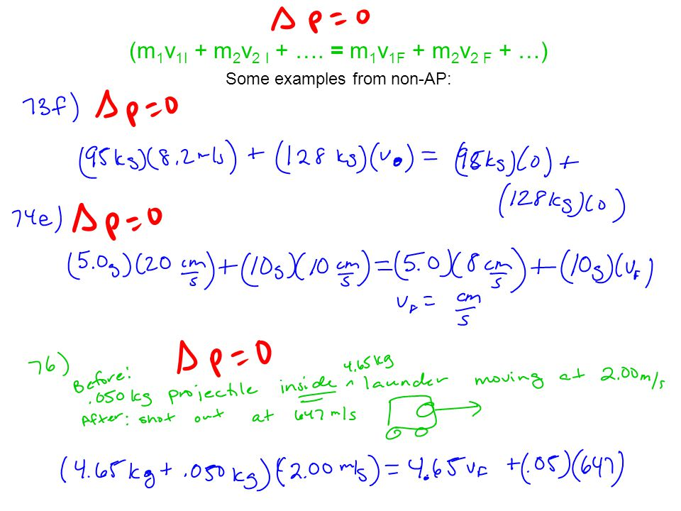 Some more examples from non-AP: