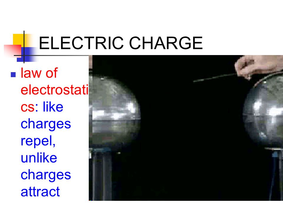 ELECTRIC CHARGE Charge transfer conductor: readily transfers charge (free electrons) insulator: doesn't transfer charge (electrons in bonds)