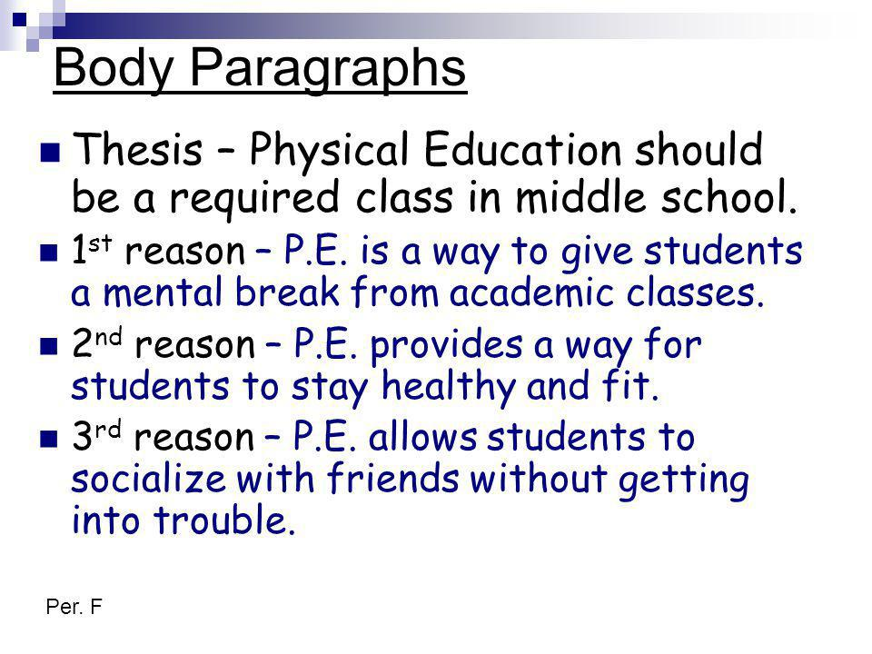 thesis statement for persuasive essay middle school