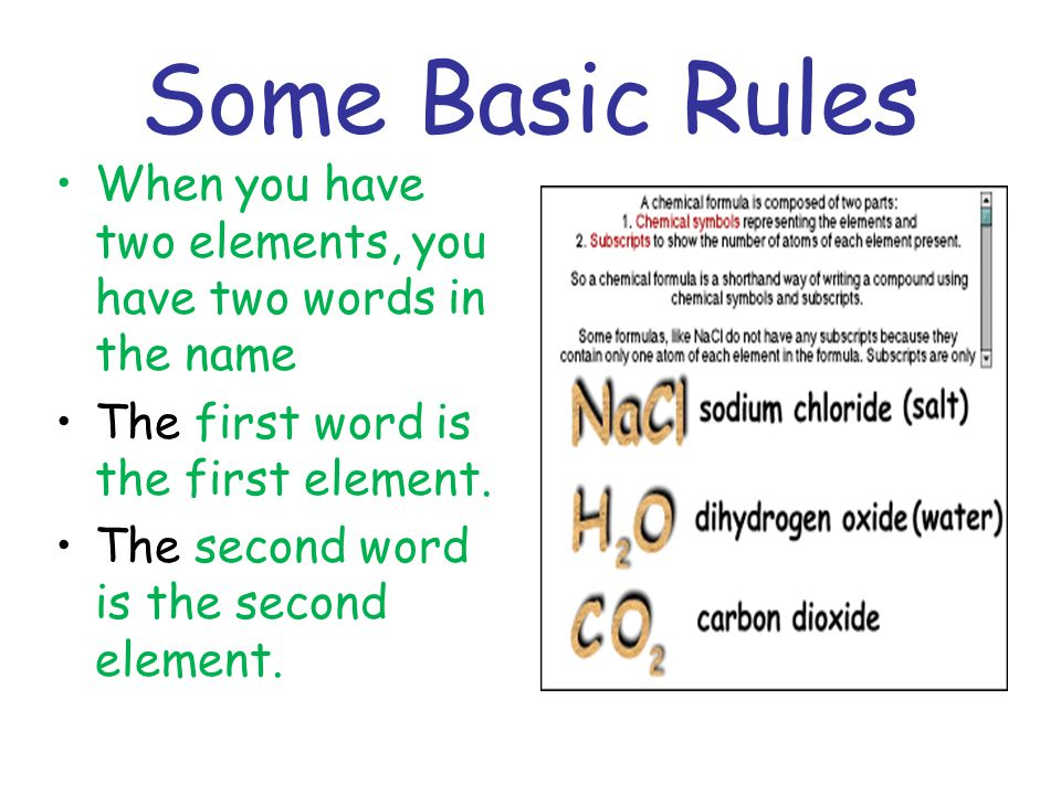 Continued The second word also ends in IDE . Like oxygen becomes oxide.