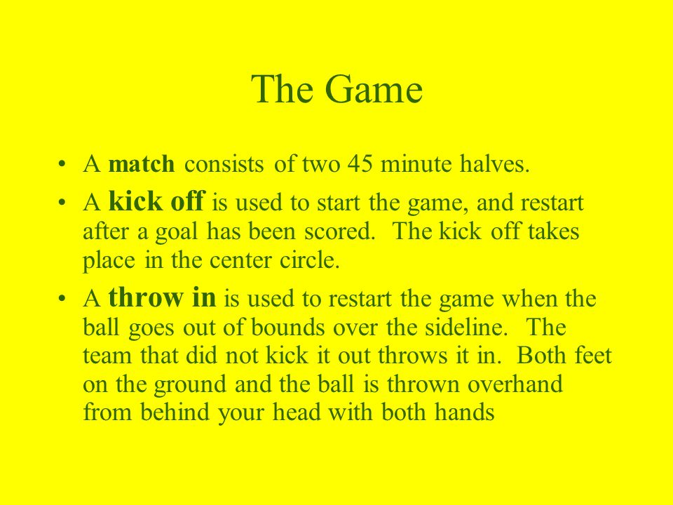 The Game Cont.