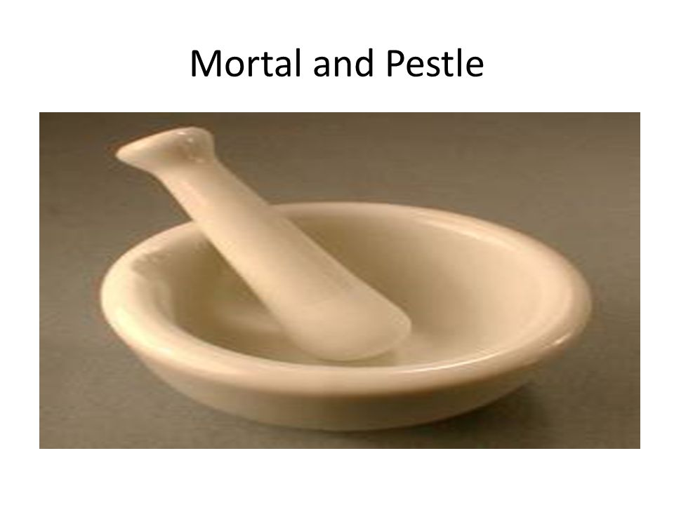Mortal and Pestle