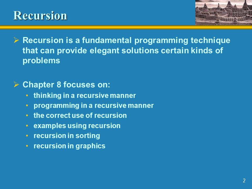 13 Recursion vs.