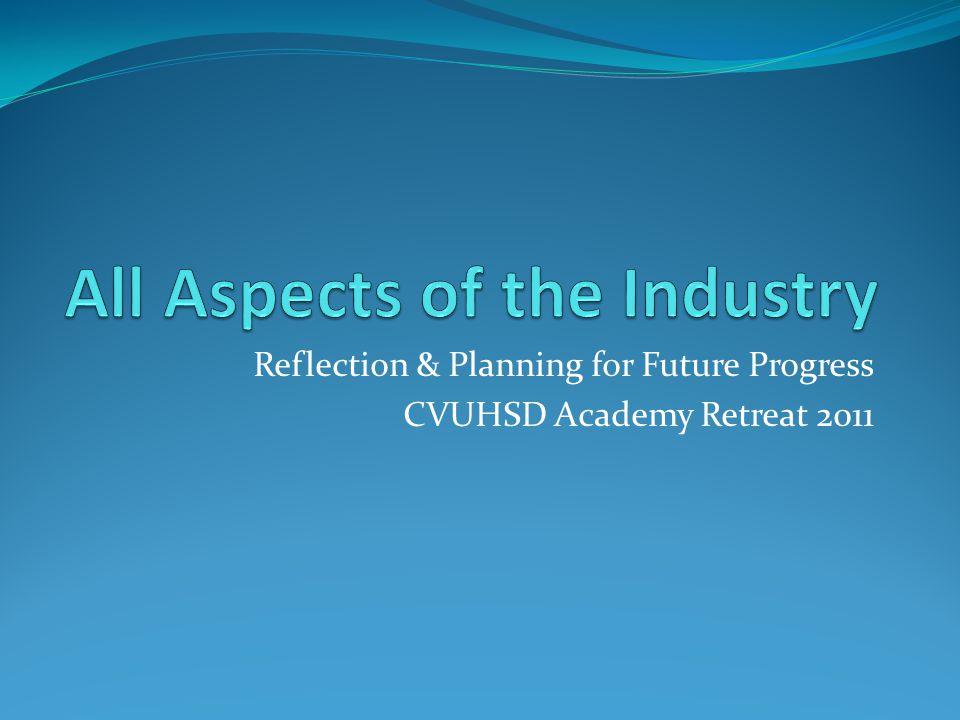 Reflection & Planning for Future Progress CVUHSD Academy Retreat 2011