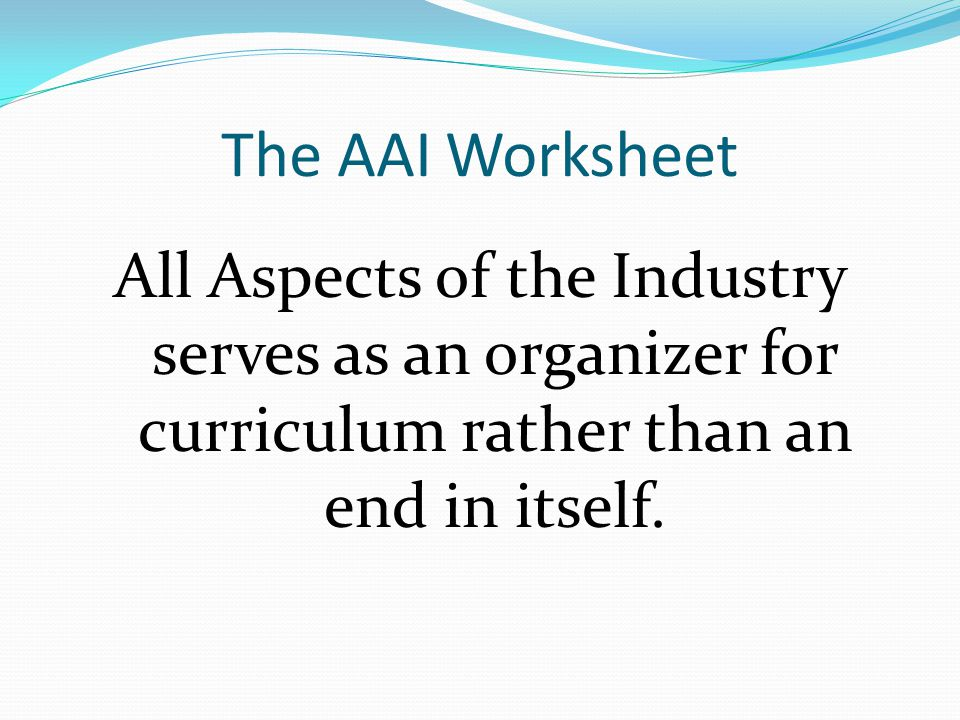 AAI Academy Self-Reflection To what degree has your academy completed this document.