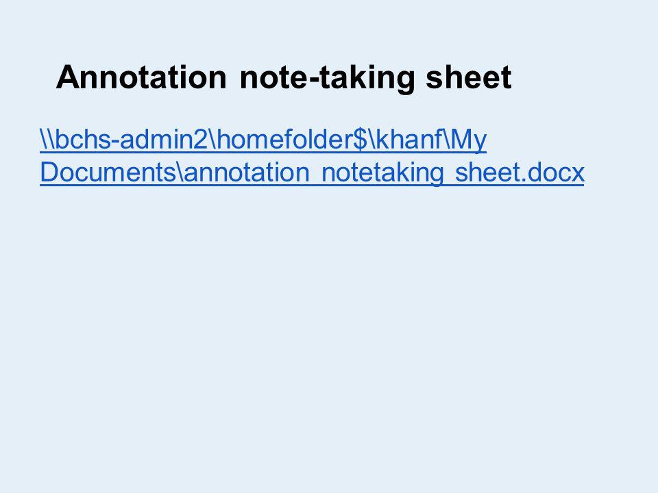 Annotation note-taking sheet \\bchs-admin2\homefolder$\khanf\My Documents\annotation notetaking sheet.docx