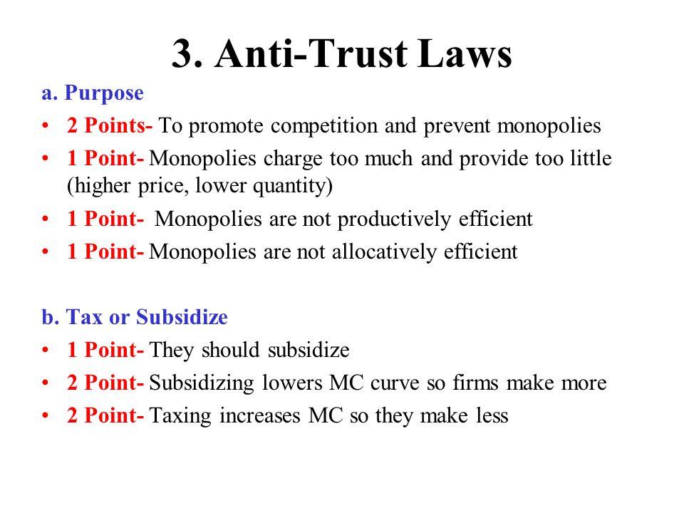 3.Anti-Trust Laws c.