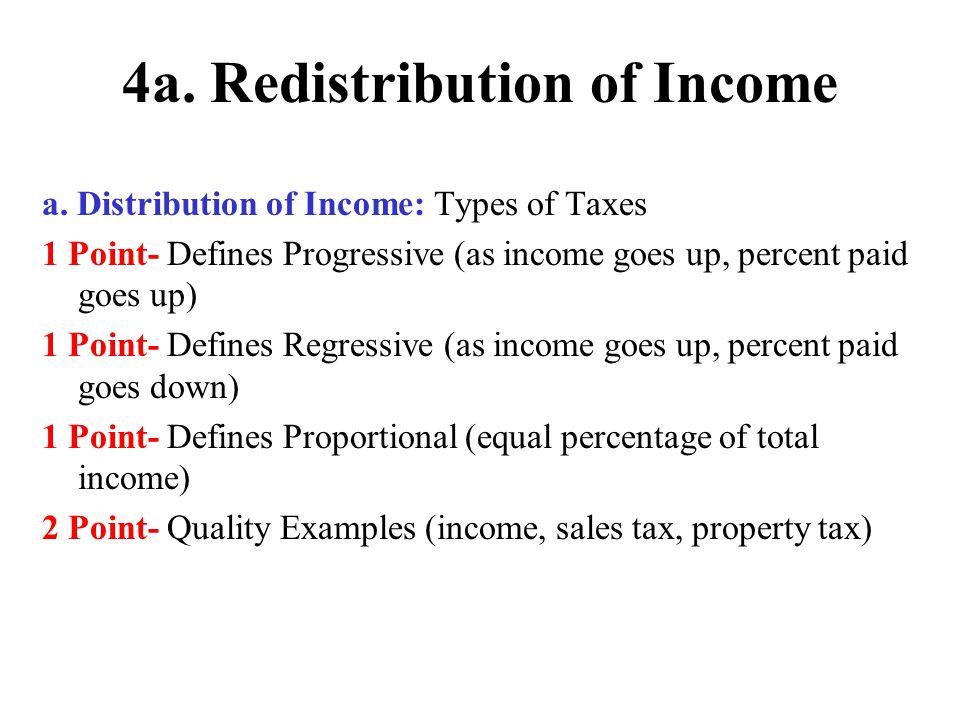 4.Redistribution of Income b.