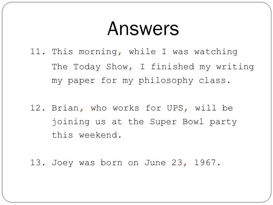 Answers 11.