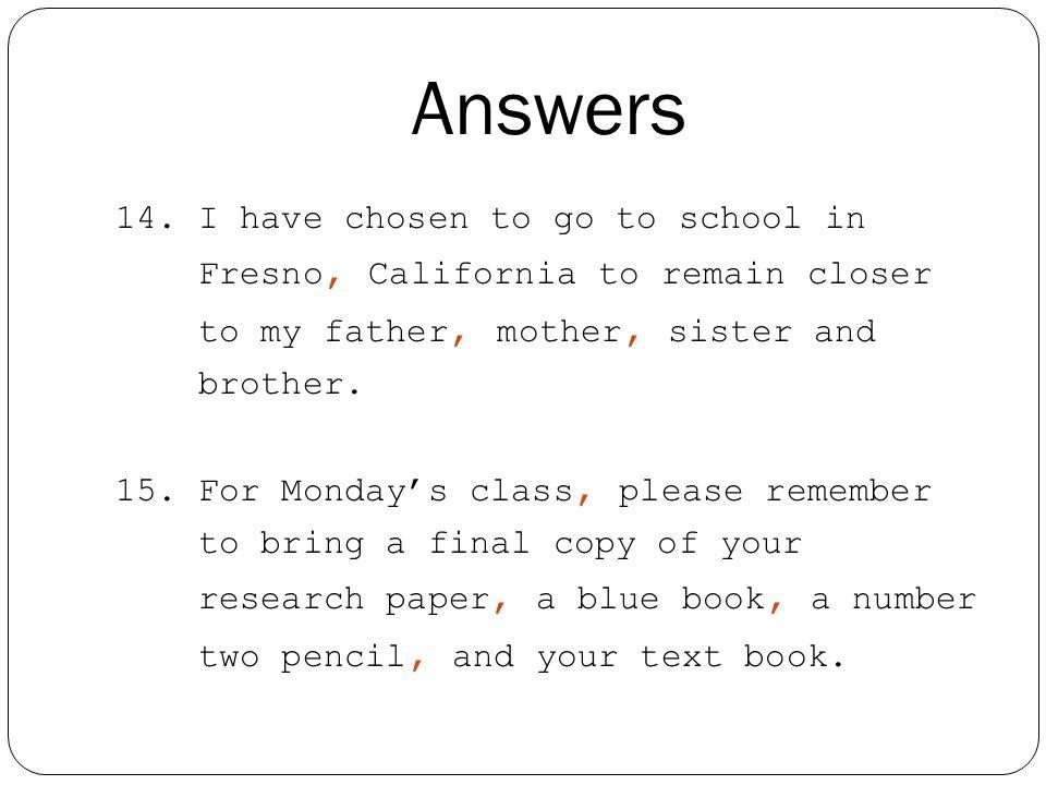 Answers 14.