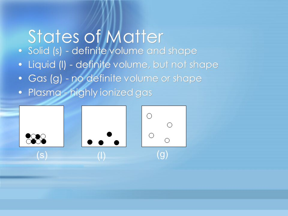 sToP & tHinK Which state or states of matter take(s) the shape of its container.