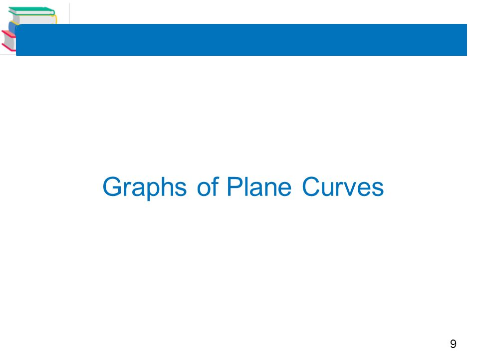 10 Graphs of Plane Curves One way to sketch a curve represented by a pair of parametric equations is to plot points in the xy-plane.