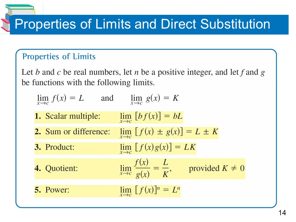14 Properties of Limits and Direct Substitution