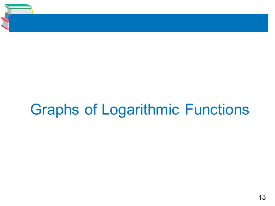 13 Graphs of Logarithmic Functions