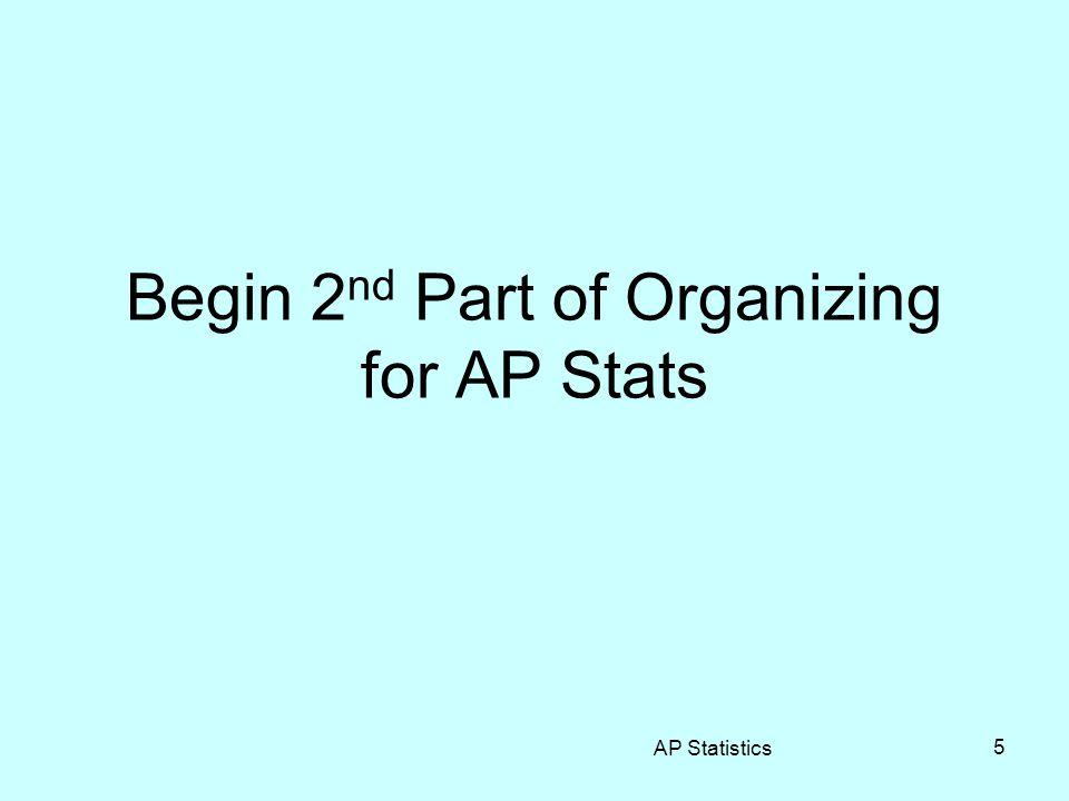 Who Should Take AP Stats.