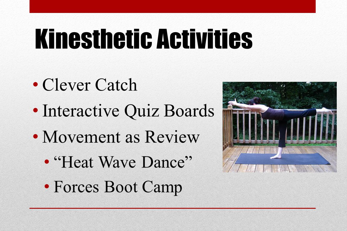 Kinesthetic Activities Clever Catch Interactive Quiz Boards Movement as Review Heat Wave Dance Forces Boot Camp