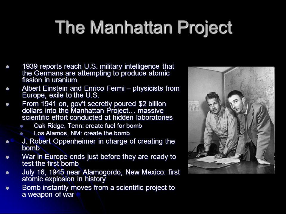 The Manhattan Project 1939 reports reach U.S.