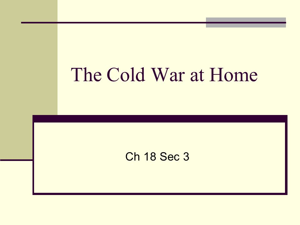 The Cold War at Home Ch 18 Sec 3