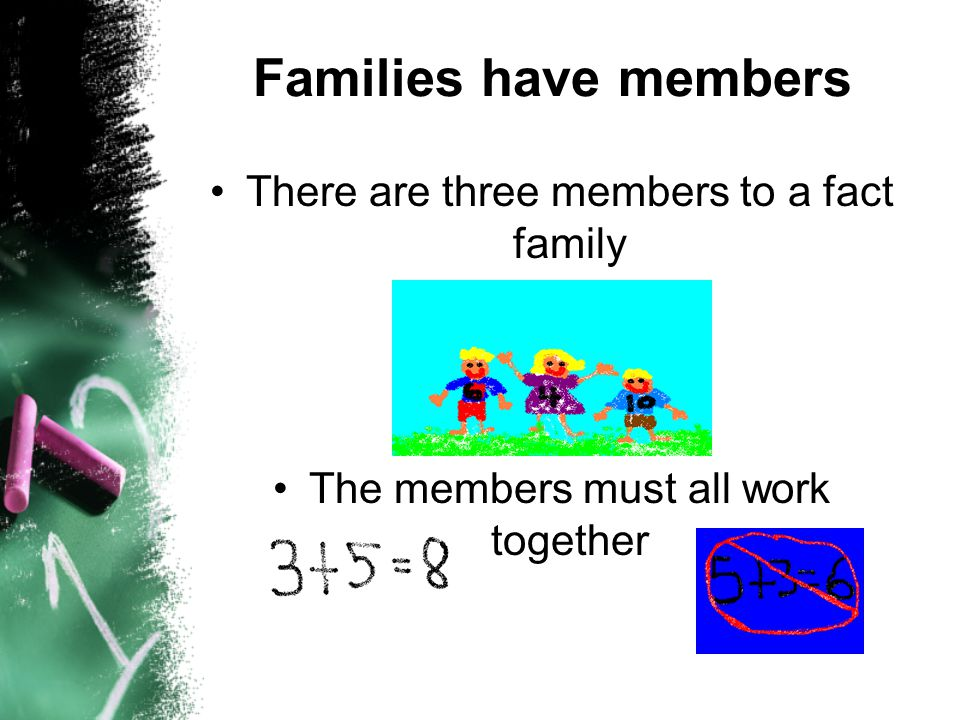Numbers can be grouped into families, too!!