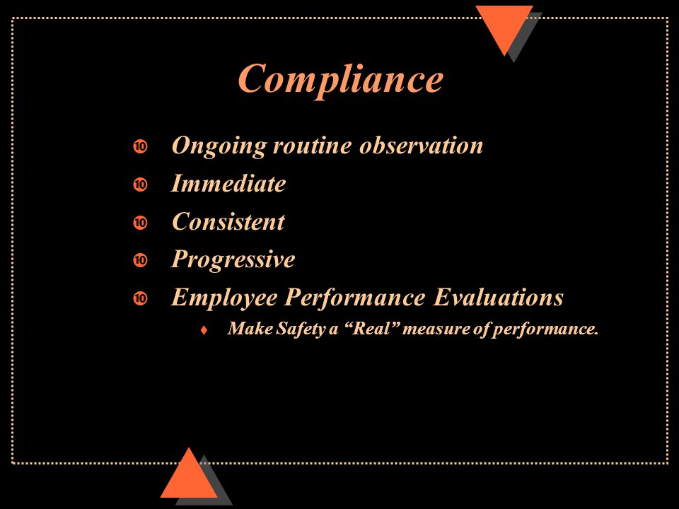 Recognition u Employee Performance Evaluations t Make Safety a Real measure of performance.