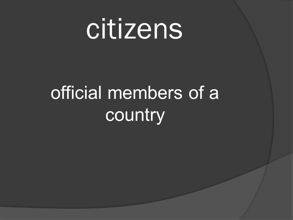 citizens official members of a country