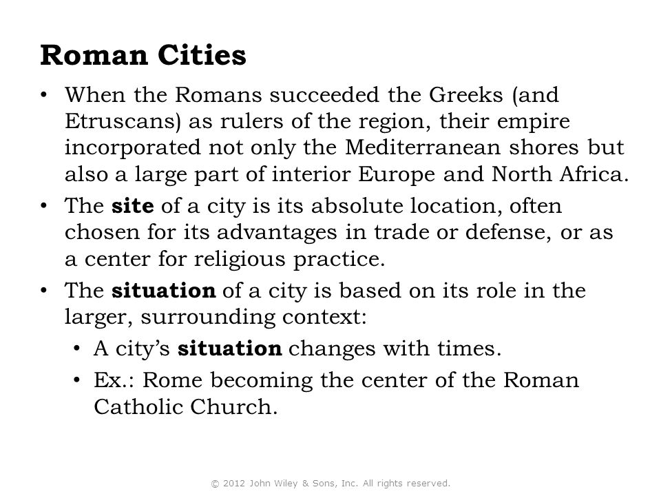 When the Romans succeeded the Greeks (and Etruscans) as rulers of the region, their empire incorporated not only the Mediterranean shores but also a large part of interior Europe and North Africa.