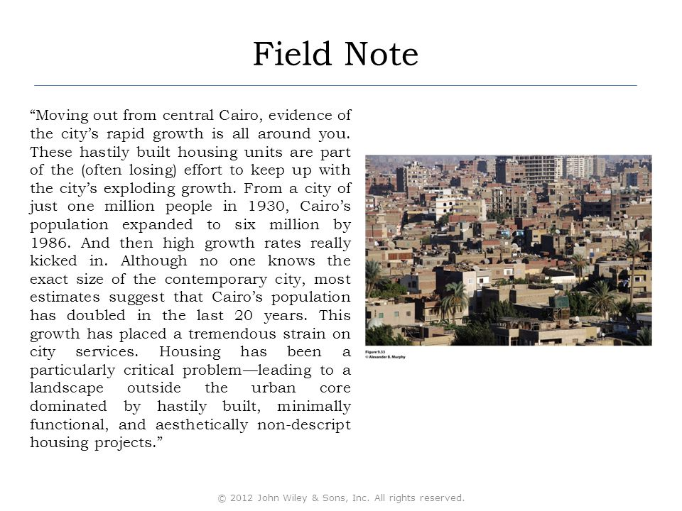 Field Note Moving out from central Cairo, evidence of the city's rapid growth is all around you.
