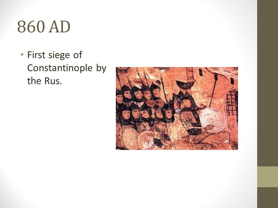 862 AD Rurik gains control of Novgorod.