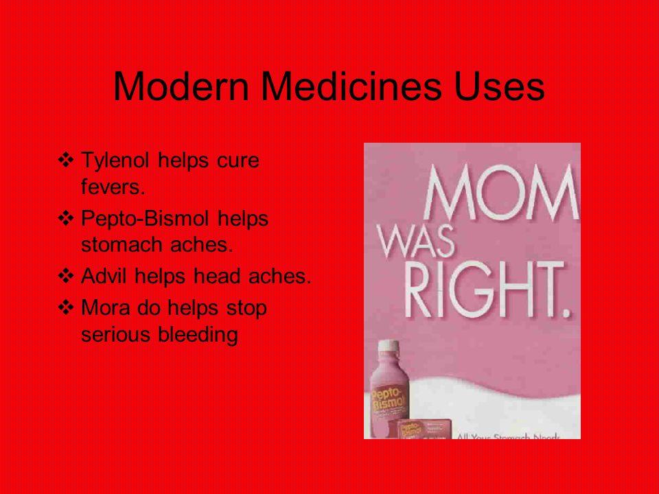 Modern Medicine  Modern medicine are other cures instead of folk medicine.