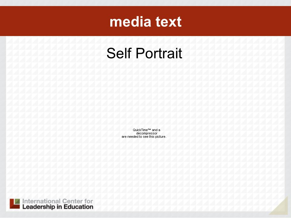 media text Self Portrait