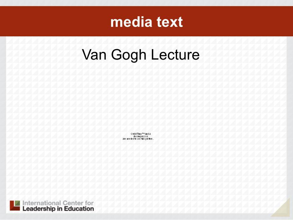 media text Van Gogh Lecture
