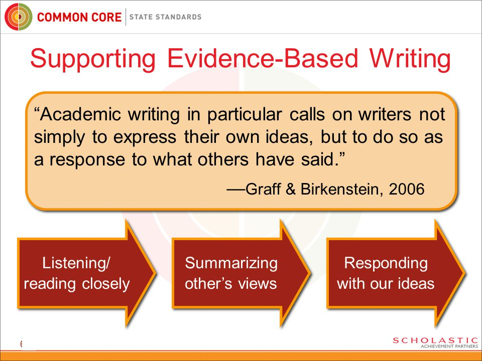"67 ""Academic writing in particular calls on writers not simply to express their own ideas, but to do so as a response to what others have said."" — Gra"