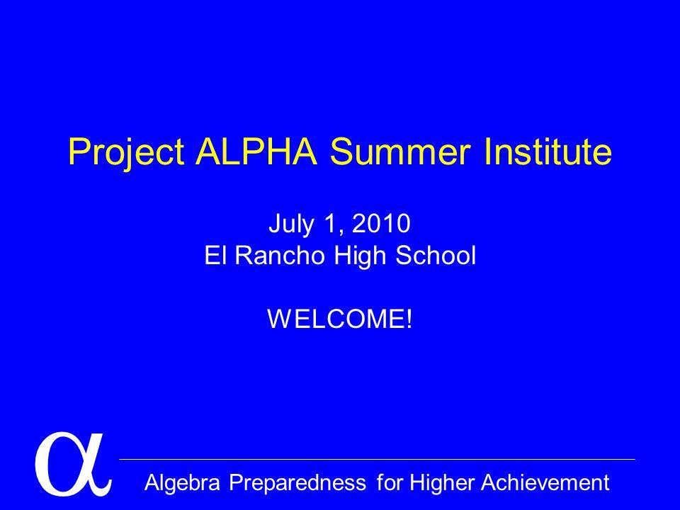  Algebra Preparedness for Higher Achievement Algebra What is algebra.